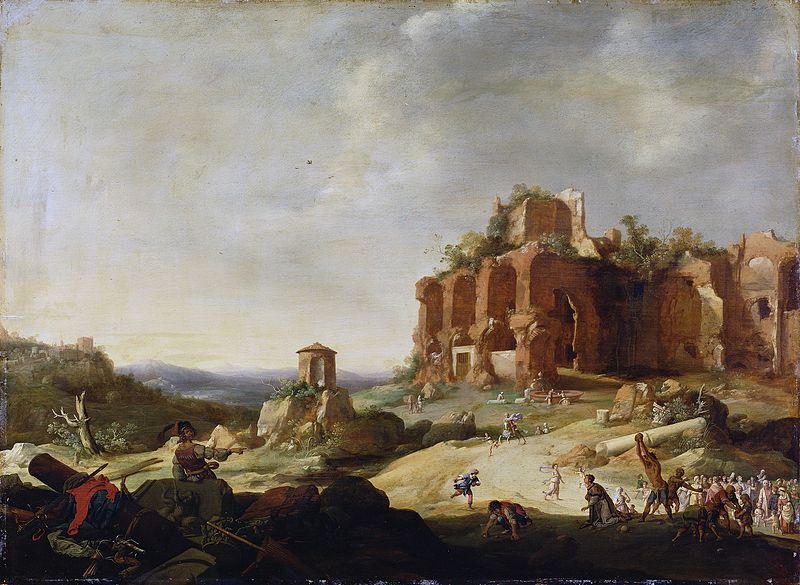 Bartholomeus Breenbergh, The Stoning of St Stephen, 1632, Getty Center, boxing day with st stephen