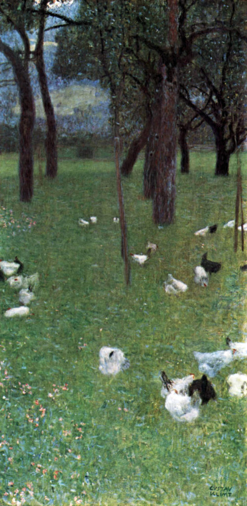 Gustav Klimt, After the Rain (Garden with Chickens in St. Agatha), 1899 - 12 Days of Christmas