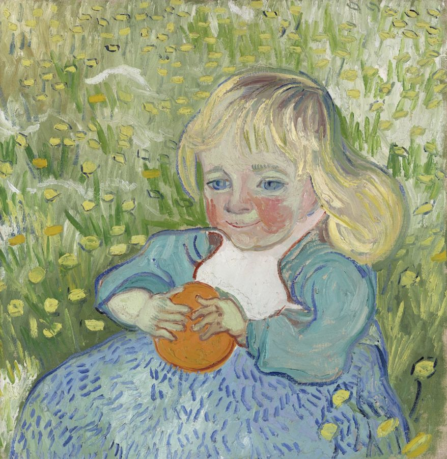 Vincent van Gogh, A child with orange, 1890, private collection, portraits with oranges