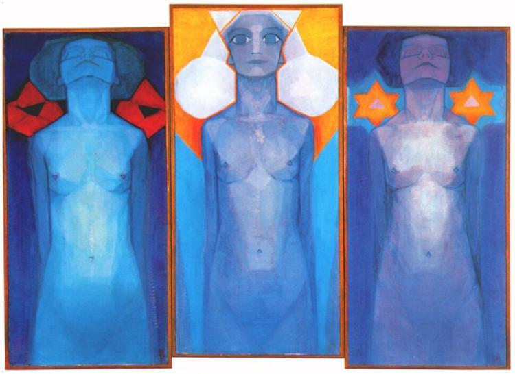 Piet Mondrian, Evolution, 1911, Gemeentemuseum den Haag, Hague, Netherlands, theosophy and art