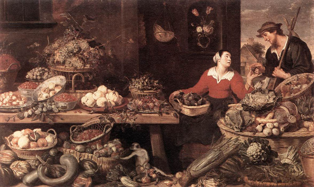 Frans Snyders, Fruit and Vegetable Market, 1621, Alte Pinakothek, Munich, Germany, new years resolutions for 2019