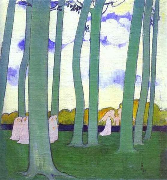Maurice Denis, Landscape with Green Trees or Beech Trees in Kerduel, 1893, private collection, new years resolutions for 2019