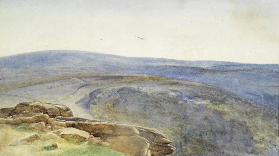 Olive Hockin, Moorland View, s.d., private collection, an artist turned suffragette a story of olive hockin