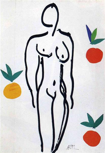 Henri Matisse, Nude with Oranges, 1951, private collection, portraits with oranges