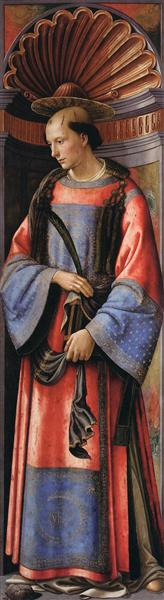 Domenico Ghirlandaio, St. Stephen the Martyr, c.1494, Budapest Museum of Fine Arts, Budapest, Hungary, boxing day wit st stephen