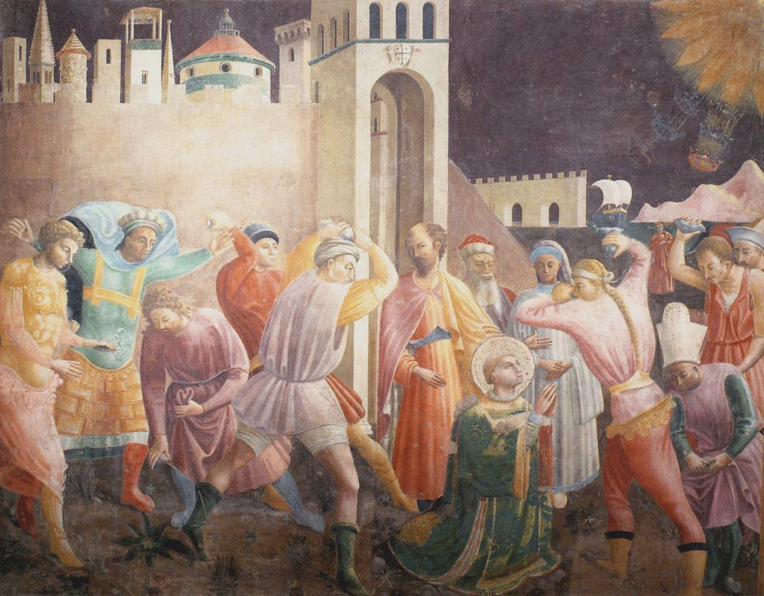 Paolo Uccello, Stoning of St.Stephen, c.1435, Cattedrale di Santa Maria del Fiore, Florence, Italy, boxing day with st stephen