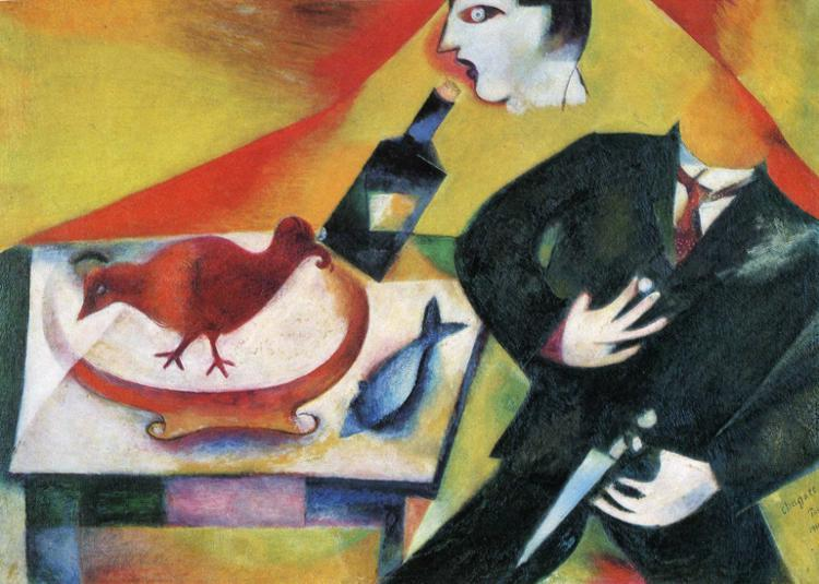 Marc Chagall, The Drunkard, 1912, private collection, new year's resolutions for 2019