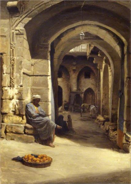 Joseph Farquharson, The Orange Seller, 1893, Aberdeen Art Gallery & Museums, portraits with oranges