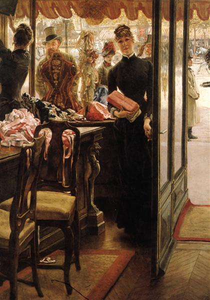 James Tissot, The Shop Girl, 1885, Art Gallery of Ontario (AGO), Toronto, Canada, new years resolutions for 2019