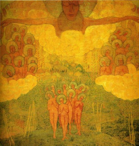 Kazimir Malevich, Triumph of the Skies, 1907, private collection, theosophy and art
