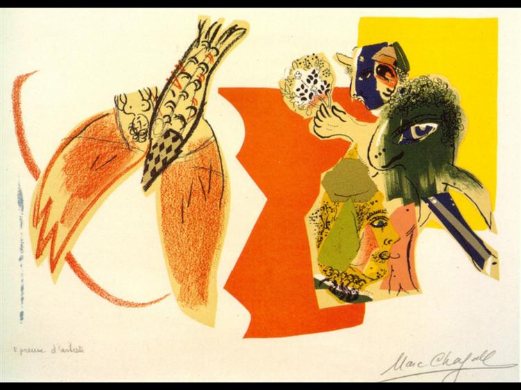 Marc Chagall, Untitled (Flying Fish),1966, Private Collection, fish paintings