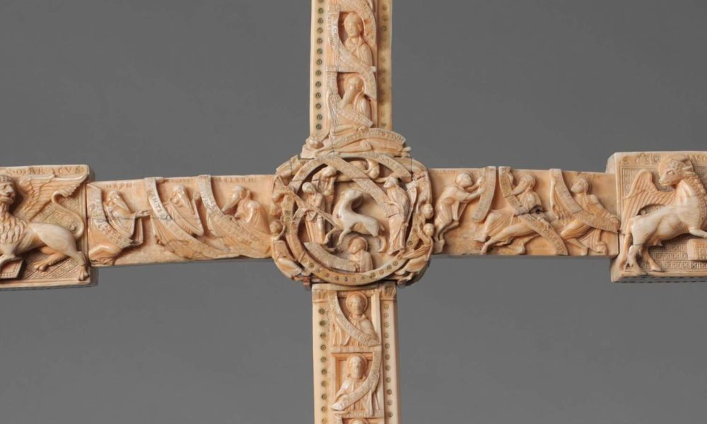 Cloisters Cross verso detail