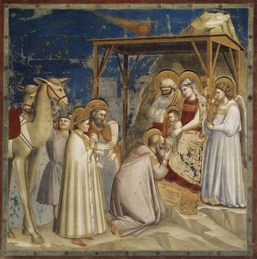Giotto di Bondone, Adoration of the Magi, c.1304 - c.1306, Scrovegni Chapel, Padua, Italy; Giotto di Bondone, Adoration of the Magi