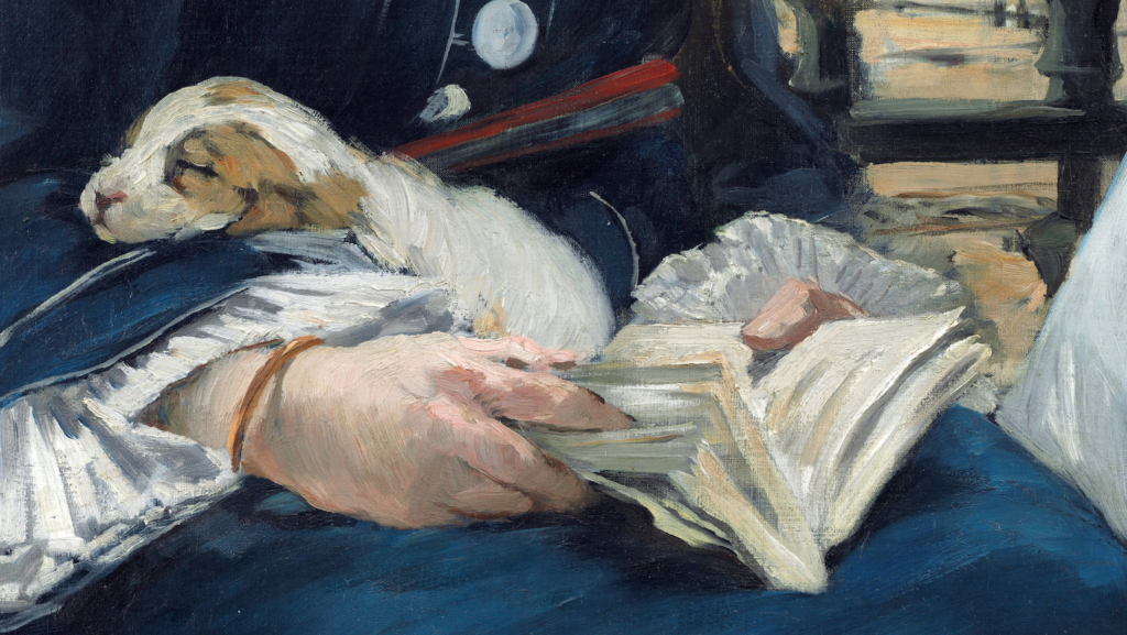 Edouard Manet The Railway Édouard Manet, The Railway, 1873, National Gallery of Art, Washington, D.C., detail