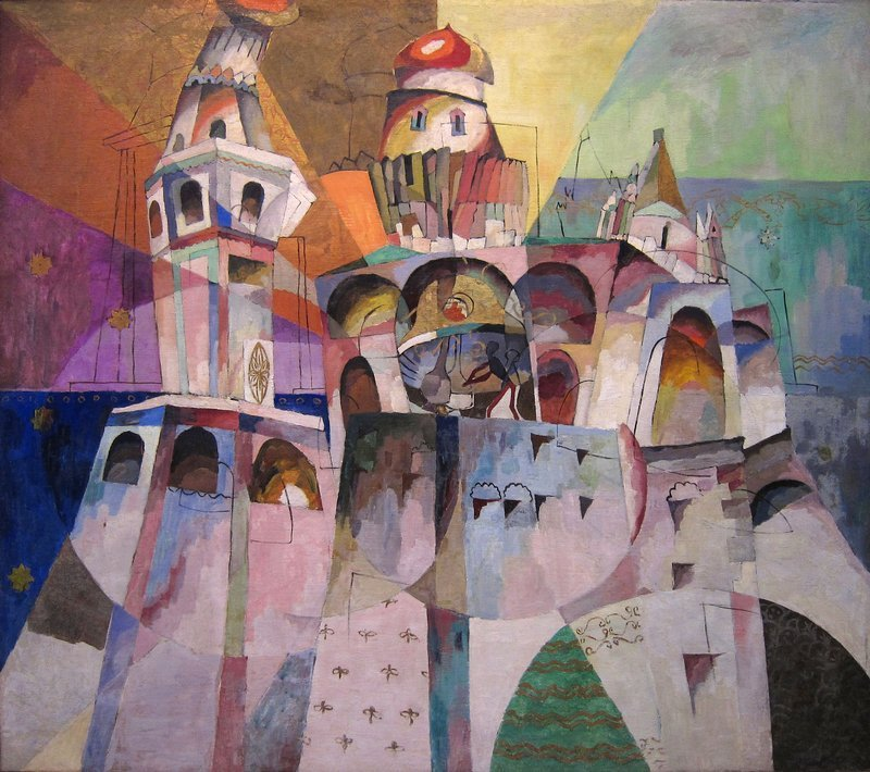 Aristarkh Lentulov, The Belfry of Ivan the Great, 1915, Tretyakov Gallery, Moscow, Aristarkh Lentulov cubist russia