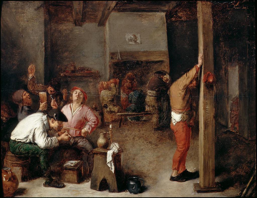 Adriaen Brouwer, Interior of a Tavern,