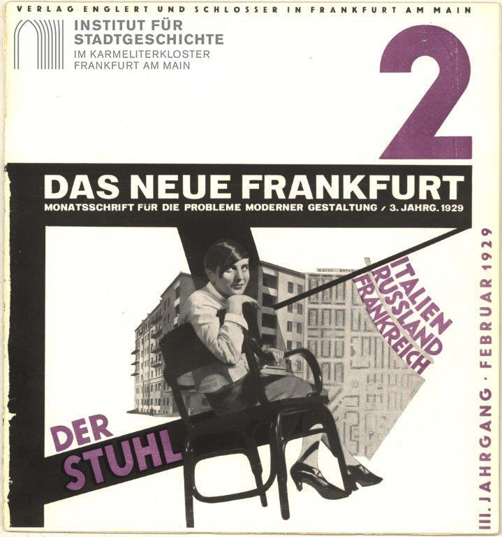 Exhibition: Modernism in Frankfurt/M 1919–1933, 19.01.2019 - 14.04.2019, Frankfurt am Main, Museum Angewandte Kunst. Photo source: Institut Fur Stadtgeschichte Frankfurt am Main, bauhaus turns 100