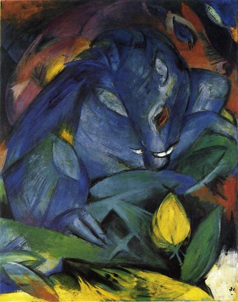 Franz Marc, Wild Pigs (Boar and sow), 1913, Museum Ludwig, Cologne, Germany, pigs in painting