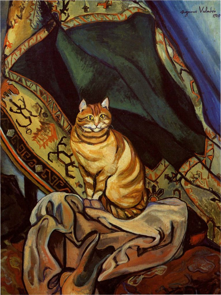 cats in art Suzanne Valadon, Raminou, 1920, private collection