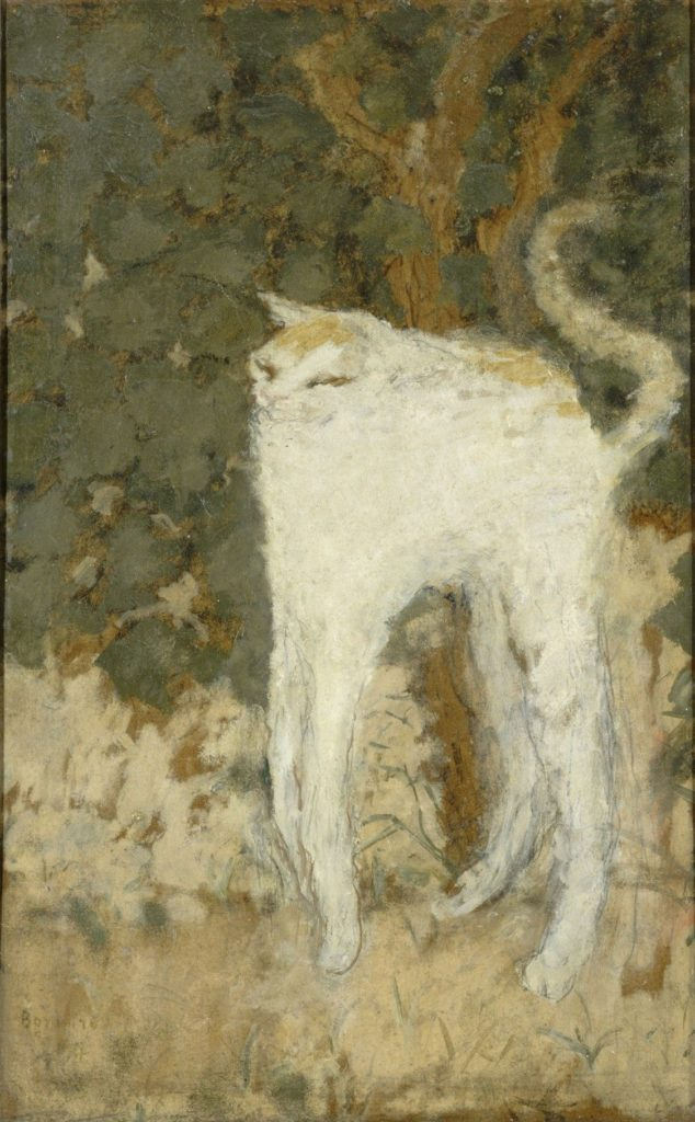 cats in art Pierre Bonnard, The White Cat, 1984, Musée d'Orsay, Paris