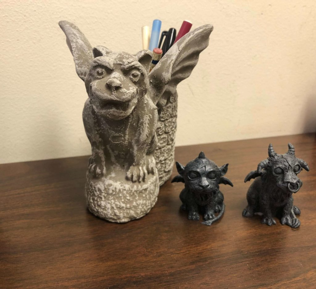The author's gargoyles collection