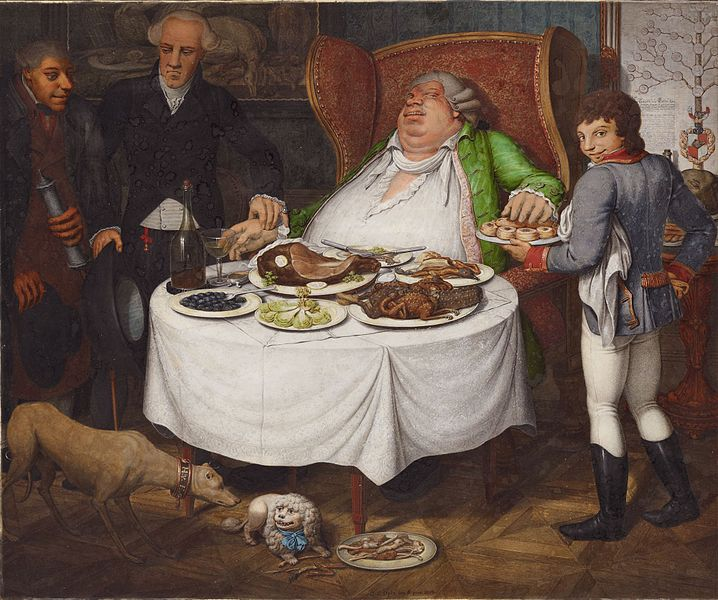Georg Emanuel Opiz, Der Völler, 1804. private collection, fat thursday