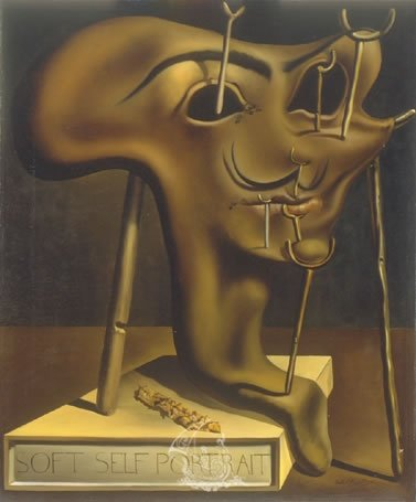 Dali self portrait; Greatest Portrait Artists