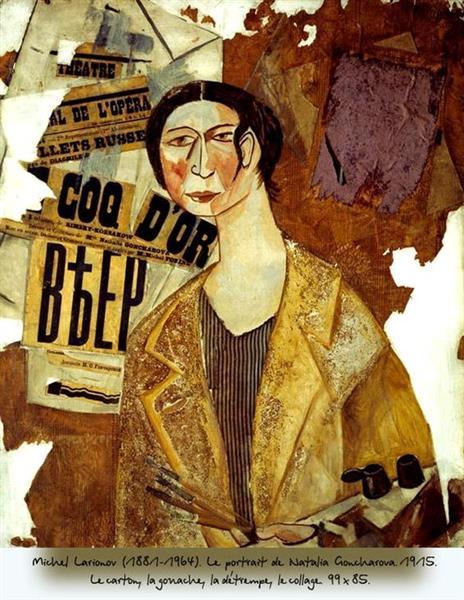 Goncharova and Larionov romance: Mikhail Larionov, Natalia Goncharova, 1915, Tretyakov gallery, Moscow,