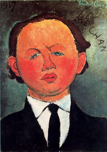 Amedeo Modigliani, Oscar Miestchaninoff,1917, Perls Galleries, New York City, NY, US, all about oscar