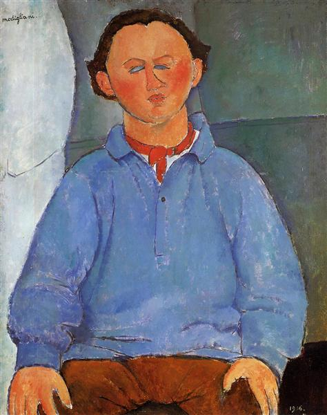 Amedeo Modigliani, Oscar Miestchaninoff,1916, private collection, all about oscar