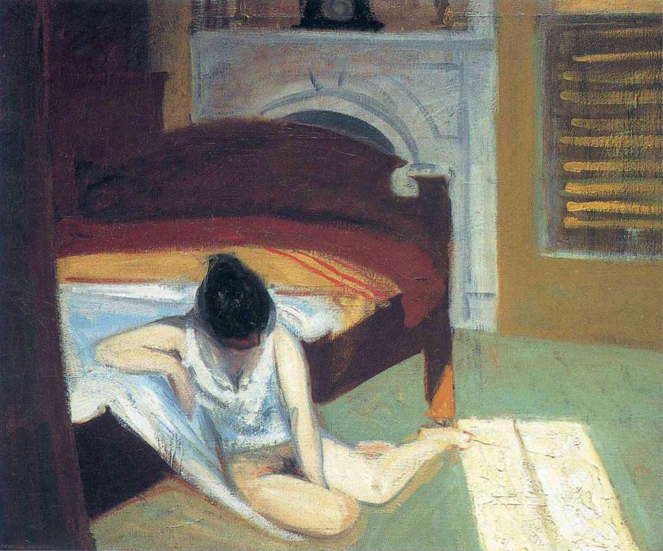 Vulnerable and Alone - Hopper's Summer Interior