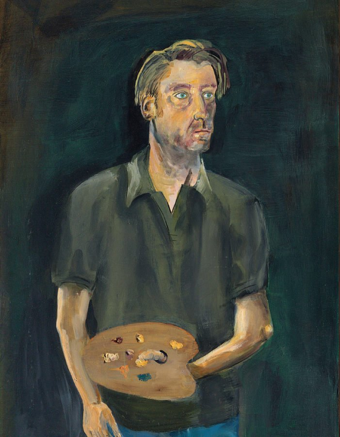 Albert Oehlen, Selbstporträt mit Palette, 2005, Private collection © Albert Oehlen; Portrait Paintings in Digital Times