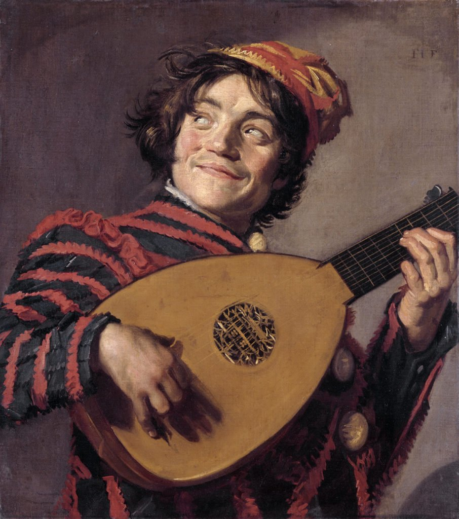 Frans Hals, The Lute Player, c.1623, Musée du Louvre - smiling painting