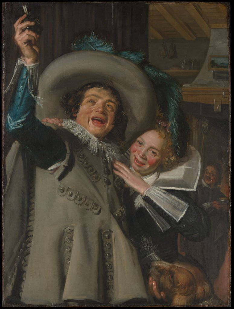Frans Hals, Young Man and Woman in an Inn, 1623, Metropolitan Museum of Art - laughing, laughter