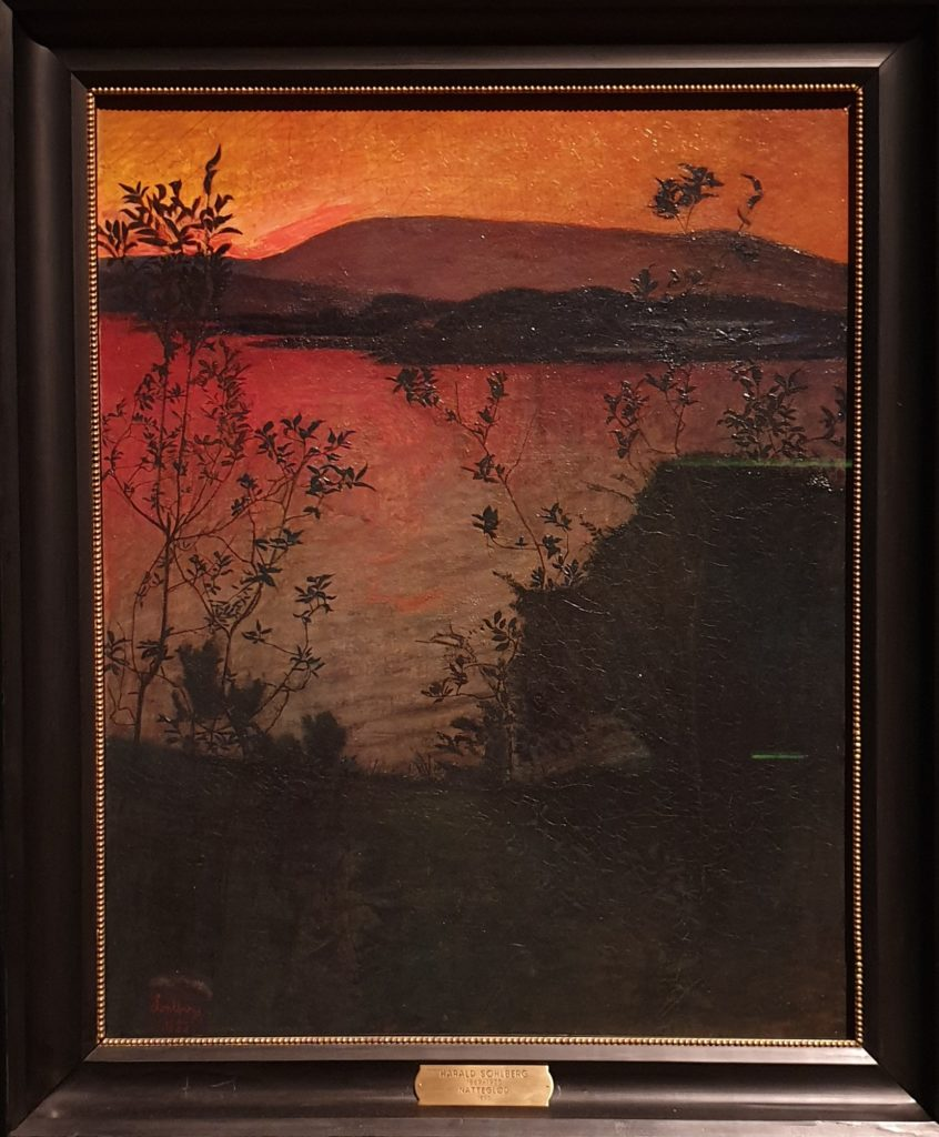 Harald Sohlberg, Evening Glow, 1893 - Norwegian painter; Harald Sohlberg at Dulwich