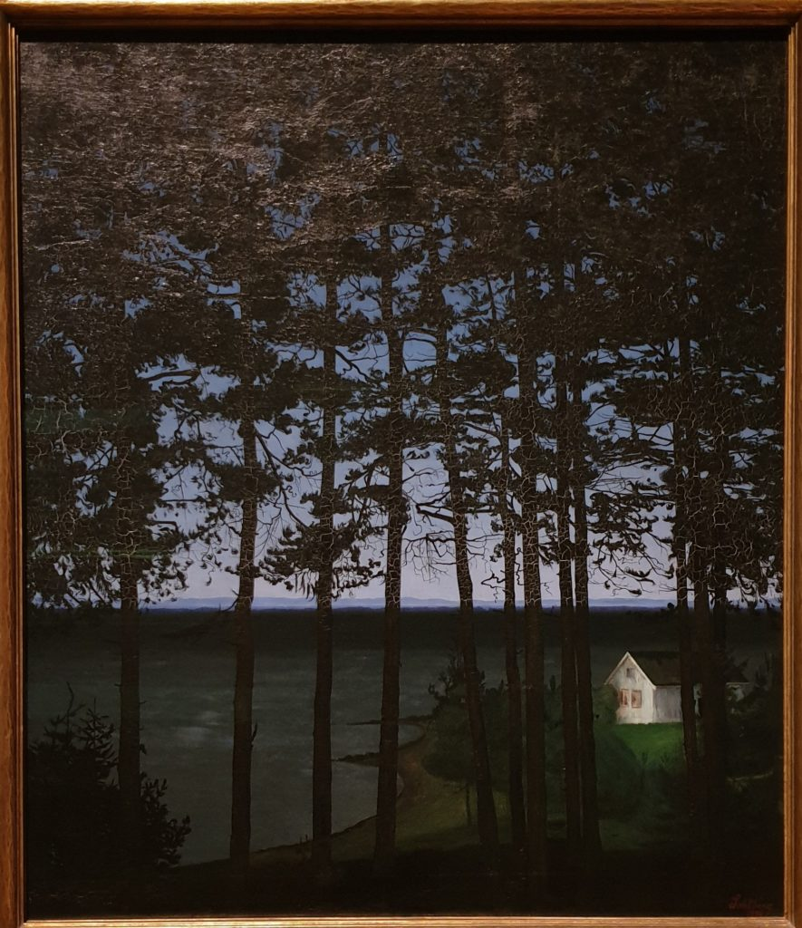 Harald Sohlberg, Fisherman's Cottage, 1906, Art Institute of Chicago, phot. Joanna Kaszubowska, Dulwich Picture Gallery; Harald Sohlberg at Dulwich