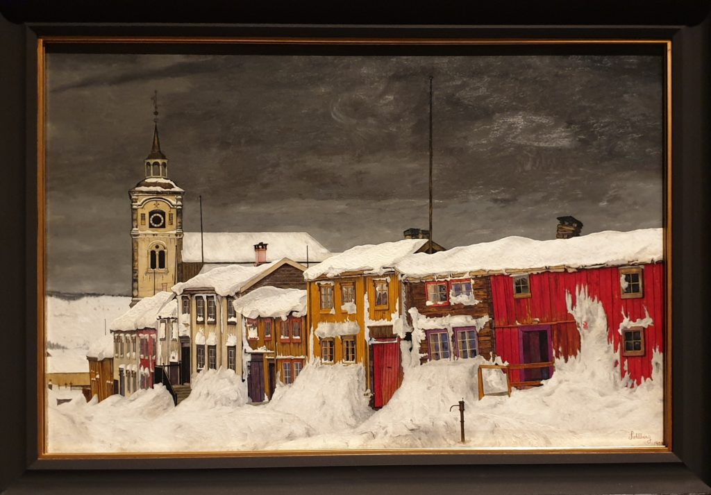 Harald Sohlberg, Street in Roros, 1903, National Museum of Art, Architecture and Design, Oslo, phot. Joanna Kaszubowska, Sohlberg; Harald Sohlberg at Dulwich