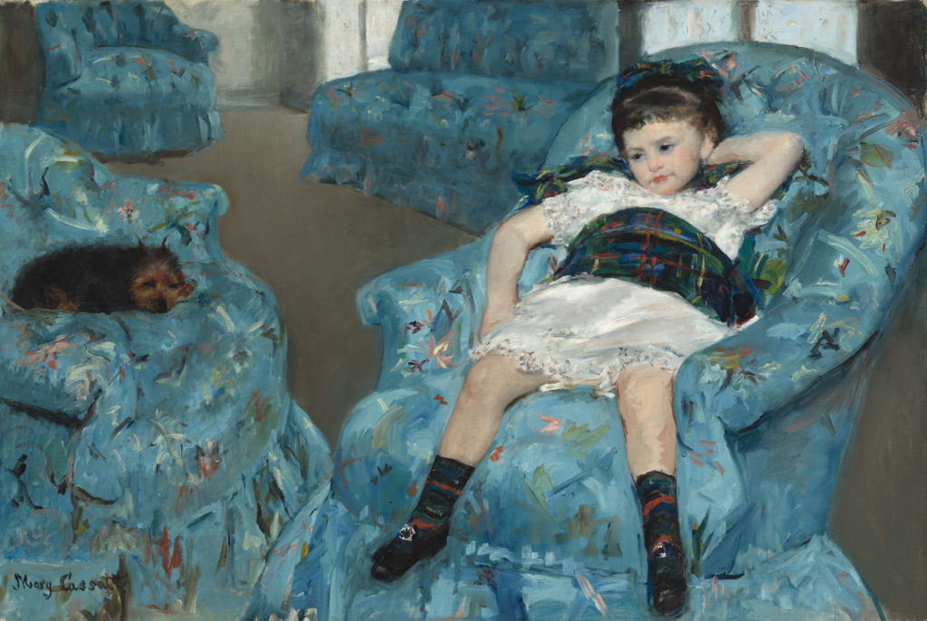 Mary Cassatt Little Girl in a Blue Armchair Mary Cassatt, Little Girl in a Blue Armchair, 1878, oil on canvas, National Gallery of Art, Washington