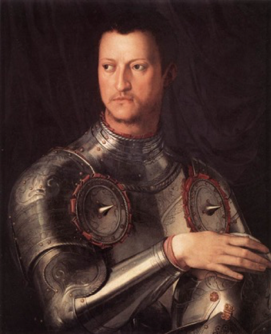 Agnolo Bronzino, Portrait of Cosimo de' Medici, 1545; Medici. Rich Sinners