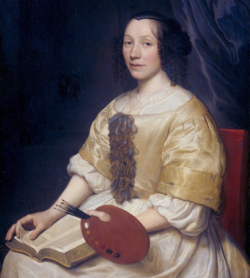 Maria van Oosterwyck, Portrait of Maria van Oosterwych Wallerant-Vaillant,1671, source: https://advancingwomenartists.org, awa around the world