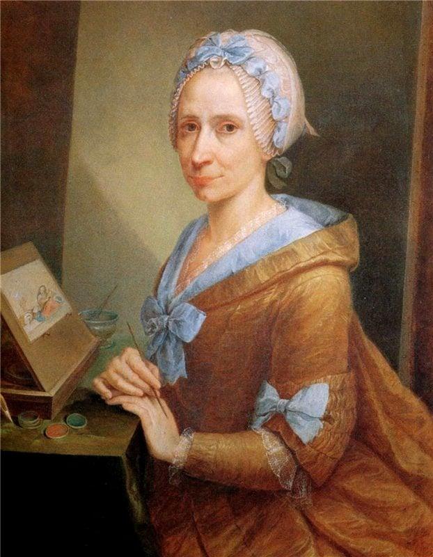 Anna Piattoli, Self portrait, c.1770, Uffizi Gallery, https://advancingwomenartists.org, awa around the world