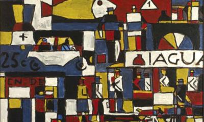 Joaquín Torres-García, Constructivo con calle y gran pez, 1946, MALBA, Buenos Aires, South American Art
