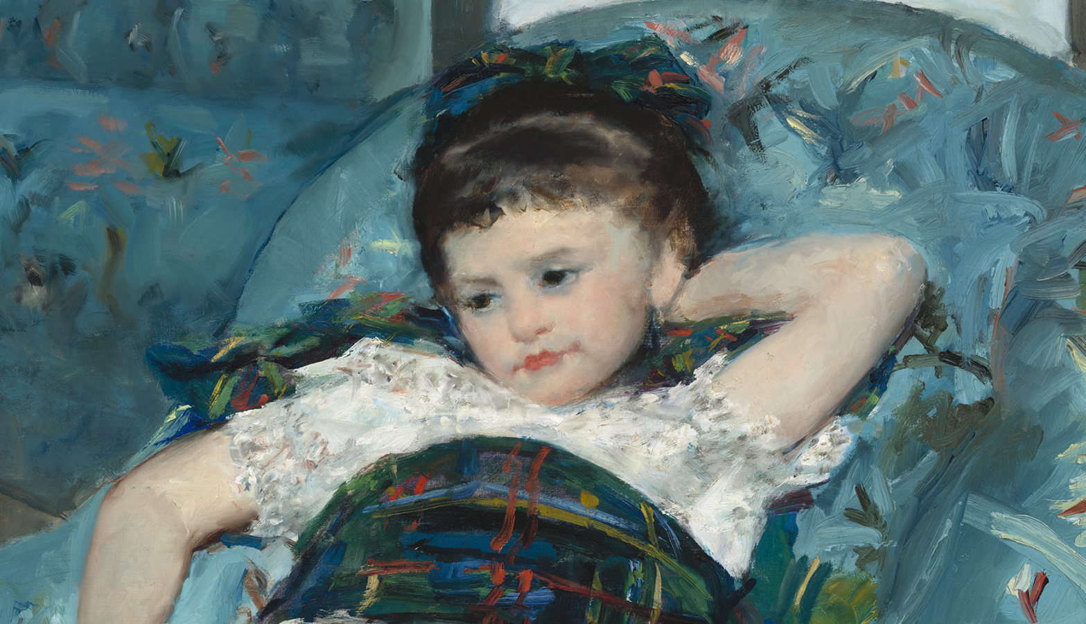 Mary Cassatt Little Girl in a Blue Armchair