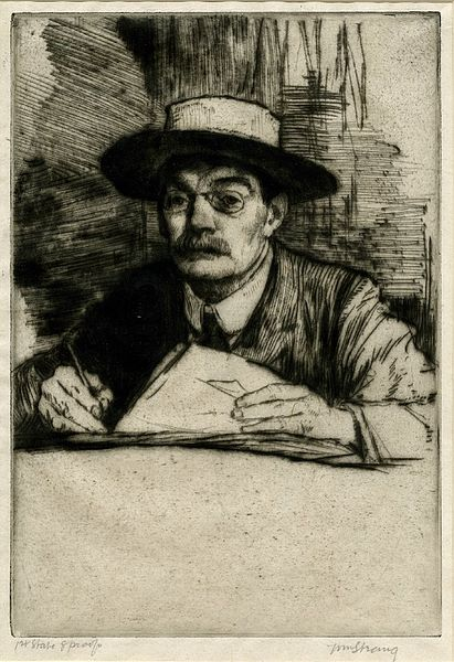 William Strang, Self-Portrait, No.19, 1910, courtesy of the British Museum, London, william strang portraitist