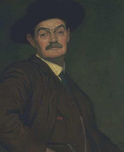 William Strang, Self-Portrait, 1912, Tate, UK, william strang portraitist