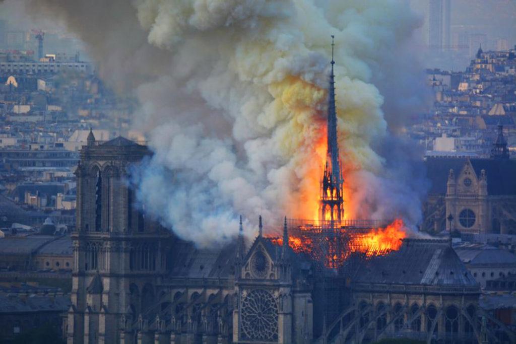 Notre-Dame de Paris on fire