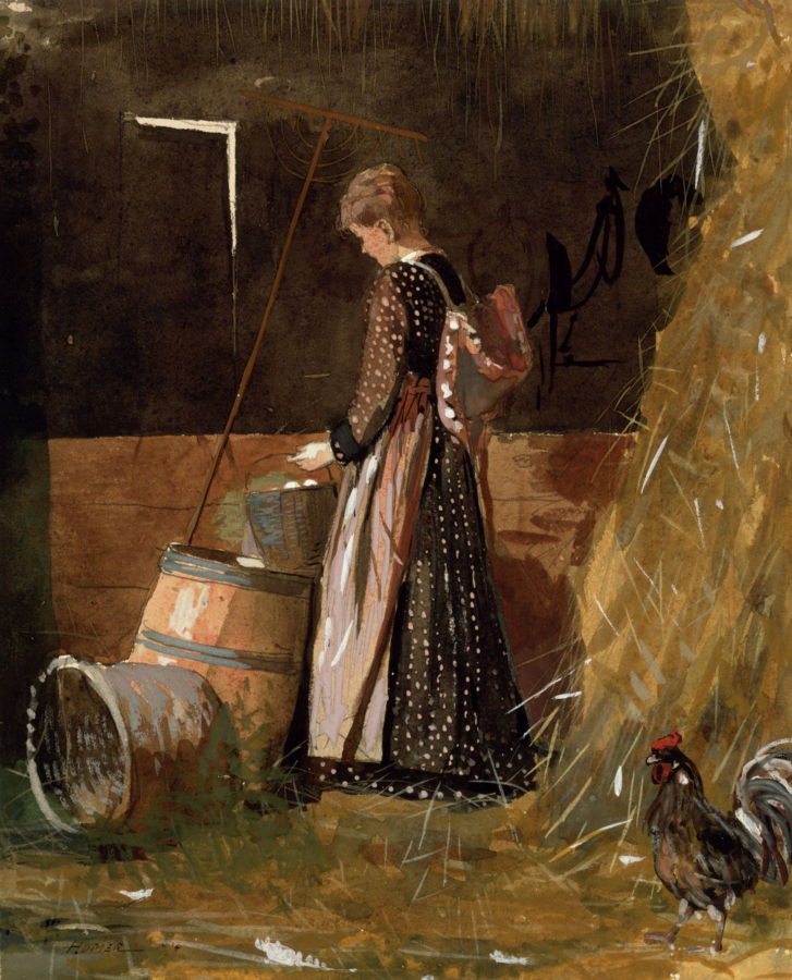 Winslow Homer, Fresh eggs, 1874, Private Collection, egg art 2019