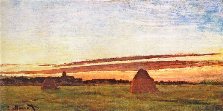 Claude Monet, Haystacks at Chailly, 1865, San Diego Museum of Art, San Diego, CA, US, kandinsky's inspiration