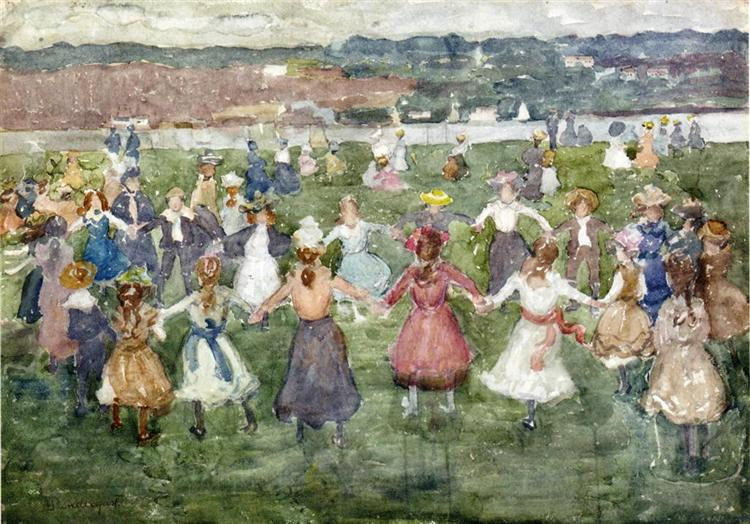 Maurice Prendergast, May Day, 1903, private collection, first of may