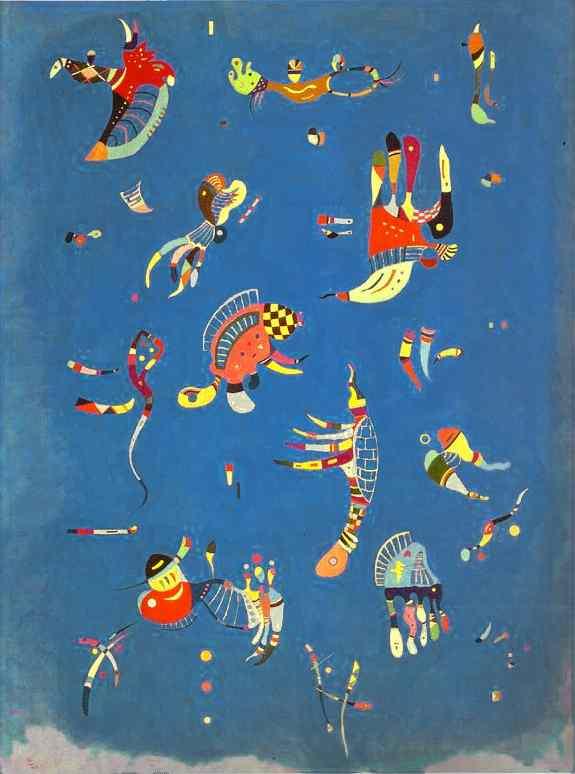Wassily kandinsky, Sky Blue, 1940, Georges Pompidou Center, Paris, France , kandinsky's inspiration